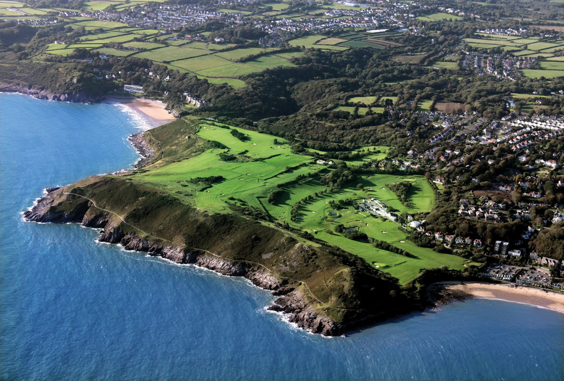 Bird's Eye View of Langland Bay Golf Club