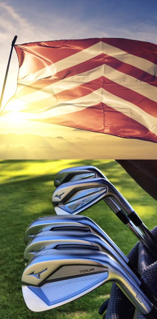 Golf Clubs and Flag